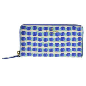 ケイトスペード katespade 長財布 ラウンドファスナー 財布 レディース PWRU4967 488 CEDAR STREET STAMP DOT LACEY ADVENTURE BLUE|tutto-brand