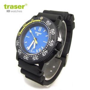 Traser トレーサー 腕時計 時計 ミリタリーウォッチ H3 ダイバーズ ウォッチ ノーティック ブルー ラバーベルト P6504.93C.6E.03  アウトドア メンズ 9031523|tutto-brand