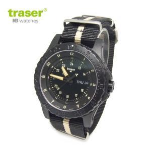 Traser トレーサー 腕時計 時計 ミリタリーウォッチ MIL-G Sand デイト オールブラック×サンド P6600.2AAI.L3.01 アウトドア メンズ 9031550|tutto-brand