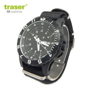 Traser トレーサー 腕時計 時計 ミリタリーウォッチ タイプ6 MIL-G ミルスペック ブラック P6600.41F.13.01 アウトドア メンズ 9031526|tutto-brand