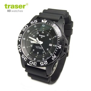 Traser トレーサー 腕時計 時計 ミリタリーウォッチ MIL-G Automatic Pro オートマチック ブラック×ホワイト P6600.9A8.13.01 アウトドア メンズ 9031538|tutto-brand