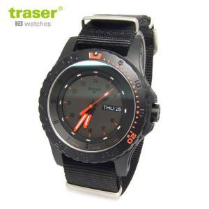 Traser トレーサー 腕時計 時計 ミリタリーウォッチ タイプ6 MIL-G レッド・コンバット NATOベルト P6600 RED COMBAT オールブラック×レッド メンズ 9031558|tutto-brand