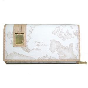 プリマクラッセ Prima Classe  長財布 地図柄 レディース アイボリー ホワイト 白 W026 6188|tutto-brand