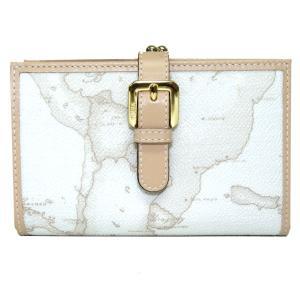 プリマクラッセ 財布 Prima Classe 地図柄 二つ折り財布 がま口2つ折財布 アイボリー ホワイト 白 W009 6188|tutto-brand