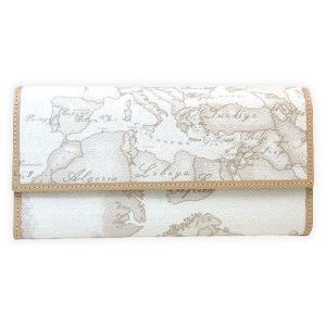 プリマクラッセ Prima Classe 長財布 レディース アイボリー ホワイト 白 地図柄 W018 6188|tutto-brand