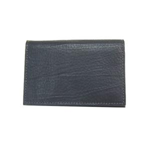 ゾンネ SONNE 財布 名刺入れ カードケース バケッタレザー SOD004B BLACK メンズ財布|tutto-brand