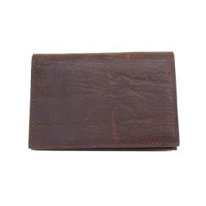 ゾンネ SONNE 財布 名刺入れ カードケース バケッタレザー SOD004B BROWN メンズ財布|tutto-brand