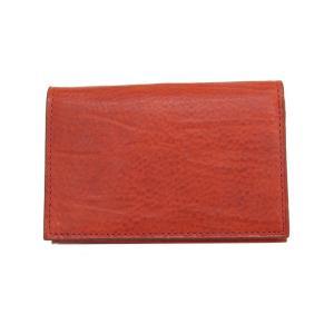 ゾンネ SONNE 財布 名刺入れ カードケース バケッタレザー SOD004B RED メンズ財布|tutto-brand