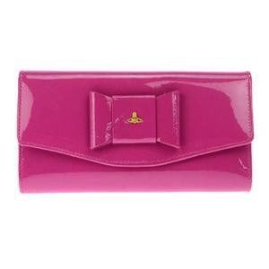 【送料無料】ヴィヴィアン ウエストウッド Vivienne Westwood  ビビアン 長財布 財布 エナメル ピンク リボン 5443V-FIOCCO/FUX|tutto-brand