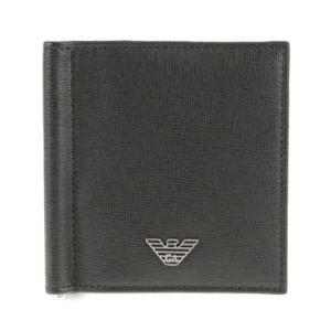 エンポリオアルマーニ カードケース EMPORIO ARMANI マネークリップ付 カードケース YEML07 YC91E 80001 ブラック