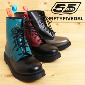 フィフティーファイブディーエスエル 55DSL ディーゼル ショートブーツ 靴 シューズ メンズ 牛革 本革 レースアップ レザーブーツ SMARTIE55|tutto-tutto