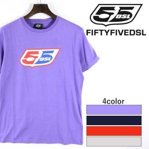 フィフティーファイブディーエスエル 55DSL ディーゼル 半袖Tシャツ メンズ ロゴプリント プリントTシャツ コットンTシャツ LOGOCLASSIC|tutto-tutto