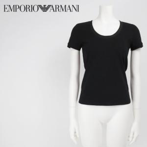 エンポリオアルマーニ EMPORIO ARMANI カットソー Tシャツ レディース クルーネック シルクネックライン 半袖|tutto-tutto
