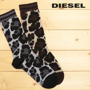 ディーゼル DIESEL クルーソックス 靴下 レディース 迷彩柄 カモフラージュ柄 レッグウェア SKF-TAMTAM|tutto-tutto