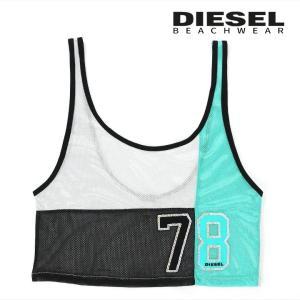 ディーゼル DIESEL タンクトップ レディース シースルーメッシュ スパンコール装飾 ビーチカバーアップ ビーチウェア BFOWT-LISA|tutto-tutto