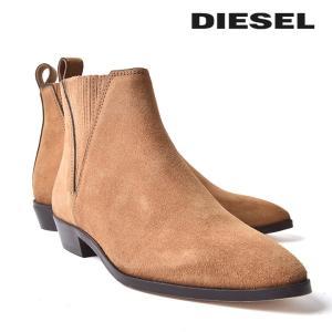 ディーゼル DIESEL サイドゴアブーツ 靴 レディース 本革 スウェード ショートブーツ レザーブーツ D-ANNISH FA|tutto-tutto