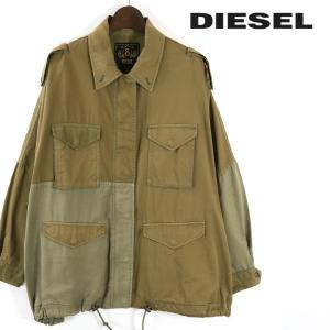 ディーゼル DIESEL ジャケット レディース エポーレット装飾 ミリタリーMIX サファリジャケット モッズコート G-IVA-A|tutto-tutto