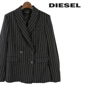 ディーゼル DIESEL テーラードジャケット レディース ストライプ柄 サイドベンツ ダブルブレスト G-YVES|tutto-tutto