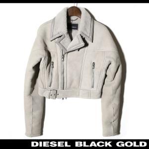 ディーゼルブラックゴールド DIESEL BLACK GOLD レザージャケット レディース 羊革 ...
