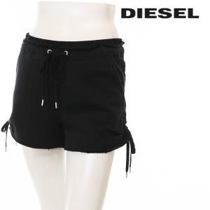ディーゼル DIESEL スウェットショートパンツ レディース 裾カットオフ ウエストドローコード S-KLEE|tutto-tutto