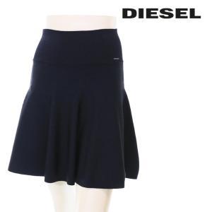 ディーゼル DIESEL ブルームスカート レディース 無地 ストレッチ 台形 Aライン ミニスカート M-SMALT|tutto-tutto
