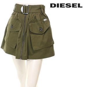 ディーゼル DIESEL ミニスカート レディース ウエストベルト付き フロントジップアップ カーゴポケット O-BODEN|tutto-tutto