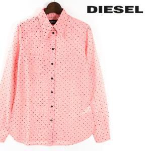 ディーゼル DIESEL コットンシャツ レディース ドット柄 長袖 薄手 C-LUCEEN