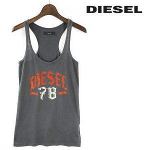 ディーゼル DIESEL タンクトップ レディース フロッキープリント ロゴ コットン 薄手 T-OBERON|tutto-tutto