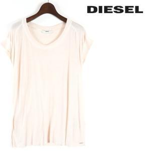 ディーゼル DIESEL Tシャツ カットソー レディース 薄手 カットオフ 切りっぱなし レーヨン フレンチスリーブ ノースリーブ T-NAJAD|tutto-tutto