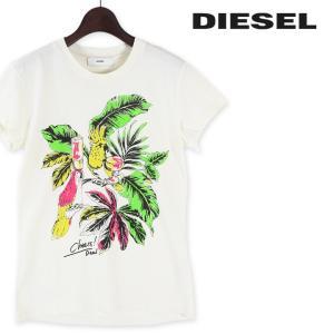 ディーゼル DIESEL Tシャツ カットソー レディース ネオンカラープリント コットンTシャツ 半袖 T-SULLY-AA|tutto-tutto
