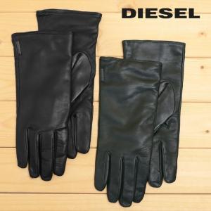 ディーゼル DIESEL レザーグローブ メンズ レディース 男女兼用 羊革 本革 ソフトレザー 革手袋 GARIKO