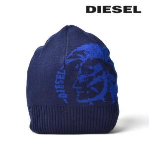 ディーゼル DIESEL ニット帽 帽子 メンズ リブ切替 ブレイブマンロゴ ニットキャップ R-GRAFISSA|tutto-tutto