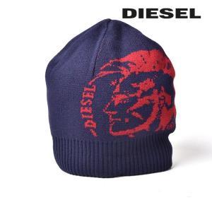 ディーゼル DIESEL ニット帽 帽子 メンズ レディース 男女兼用 リブ切替 ブレイブマンロゴ ニットキャップ K-GRAFISS|tutto-tutto