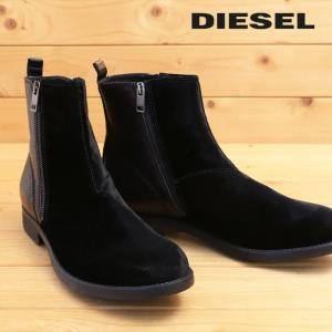 ディーゼル DIESEL ショートブーツ 靴 メンズ 本革×スウェード 両サイドジップ レザーブーツ D-ANKLYX tutto-tutto