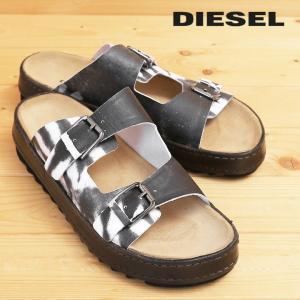 ディーゼル DIESEL レザーサンダル 靴 メンズ 牛革 本革 モノトーンプリント コンフォートサンダル BIK-DOU tutto-tutto
