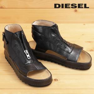 ディーゼル DIESEL ブーツサンダル 靴 メンズ 牛革 本革 フロントジップアップ レザーサンダル BIK-MID tutto-tutto