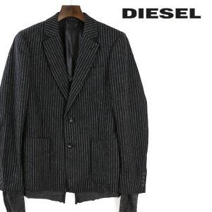 ディーゼル DIESEL テーラードジャケット メンズ ストライプ柄 圧縮ウール フェイクレイヤード シングル 2ボタン J-AYAN|tutto-tutto