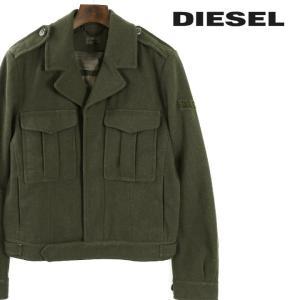 ディーゼル DIESEL ブルゾン ジャケット メンズ 比翼仕立て ウール エポレット ミリタリー J-TANVI|tutto-tutto