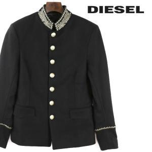ディーゼル DIESEL ジャケット メンズ ゴールド刺繍装飾 ゴールドボタン スタンドカラー ウール J-NIRAJ|tutto-tutto