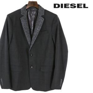 ディーゼル DIESEL テーラードジャケット メンズ シンプル 襟切替 2B 2釦 シングルブレスト J-PUNCH|tutto-tutto