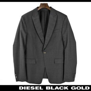 ディーゼルブラックゴールド DIESEL BLACK GOLD テーラードジャケット メンズ 襟カモフラ柄切替 ヴァージンウール 1B 1釦 シングルブレスト JEIGHT|tutto-tutto