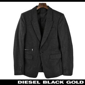 ディーゼルブラックゴールド DIESEL BLACK GOLD テーラードジャケット メンズ ウール混 カシミヤ混 1B 1釦 シングルブレスト JIME-PAR|tutto-tutto