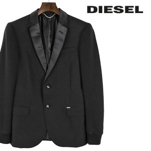 ディーゼル DIESEL テーラードジャケット メンズ 袖スウェット地切替 2B 2釦 センターベント シングルブレスト J-DISOS|tutto-tutto