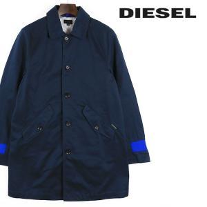 ディーゼル DIESEL ステンカラーコート メンズ 袖口ワンポイント シングルブレスト J-MAC|tutto-tutto