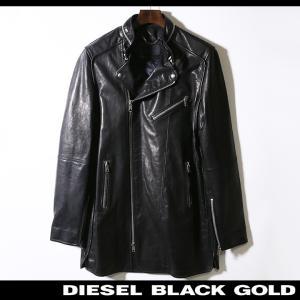 ディーゼルブラックゴールド DIESEL BLACK GOLD レザーハーフコート メンズ ブルレザー 本革 ライダースデザイン LARTEFICE tutto-tutto