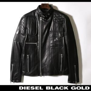 ディーゼルブラックゴールド DIESEL BLACK GOLD レザージャケット メンズ 羊革 本革 バイカー ライダース LUNT tutto-tutto