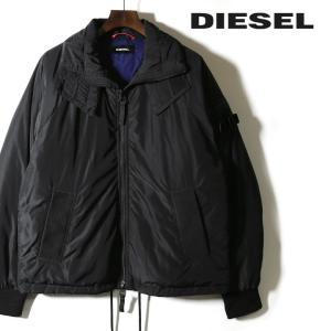 ディーゼル DIESEL ダウンジャケット メンズ MA-1タイプ ショルダーベルト ドローコード W-CUTLESS tutto-tutto
