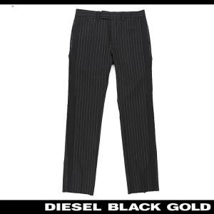 ディーゼルブラックゴールド DIESEL BLACK GOLD スラックスパンツ メンズ ストライプ柄 サイドライン ウール PAFODRIT|tutto-tutto