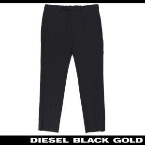 ディーゼルブラックゴールド DIESEL BLACK GOLD スラックスパンツ メンズ 無地 ウール混 薄手 センタープレス PACCYNI|tutto-tutto