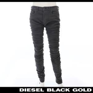 ディーゼルブラックゴールド DIESEL BLACK GOLD チノパンツ メンズ クラッシュ加工 汚し加工 ストレッチスキニー エクストラロング TYPE-2614|tutto-tutto